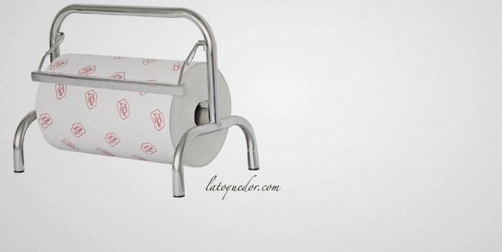 D rouleur inox papier film alimentaire et papier aluminium la toque d 39 or - Derouleur papier alu ...