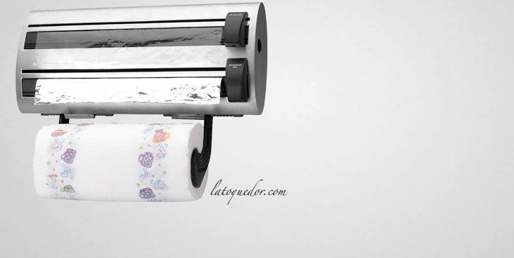 D rouleur de cuisine inox film alimentaire et papier for Feuille inox pour cuisine