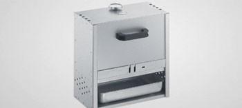 Fumoir acier aluminisé 40x39 cm