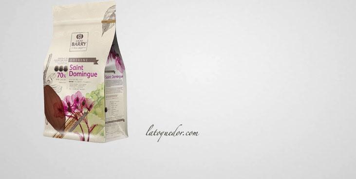 Chocolat de couverture noir St Domingue 70% Cacao Barry