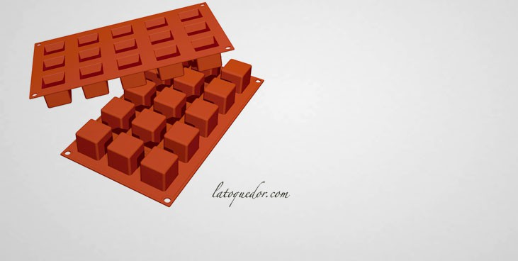 moule silicone 15 mini cubes silicon flex moule silicone. Black Bedroom Furniture Sets. Home Design Ideas