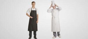 Tablier de cuisinier blanc avec poche