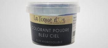 Colorant poudre bleu ciel hydrosoluble