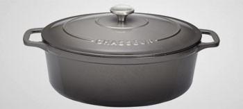 Cocotte en fonte ovale caviar - Sublime Chasseur
