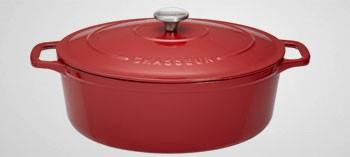 Cocotte en fonte ovale rouge - Sublime Chasseur