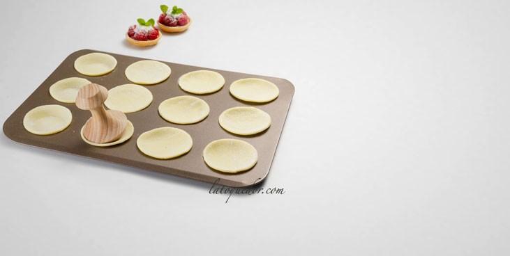 Plaque 12 mini tartelettes anti-adhésif