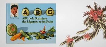Livre ABC sculpture sur fruits et légumes