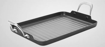 Grill rectangulaire anti-adhésif induction Titan