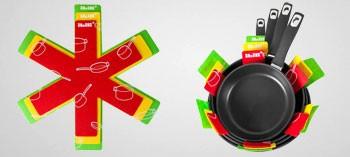Feuilles de protection pour poêles et casseroles (x3)
