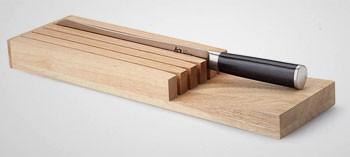 Barre aimant e et bloc couteaux la toque d 39 or la toque d 39 or - Bloc en bois pour couteau ...