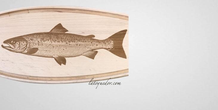 Planche d couper bois sp ciale poisson planche d couper professionnelle la toque d 39 or - Poisson a decouper ...