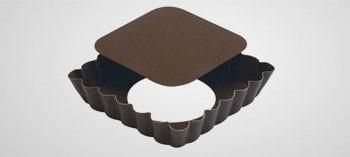 Moule à tartelette carré fond amovible Gobel (x6)