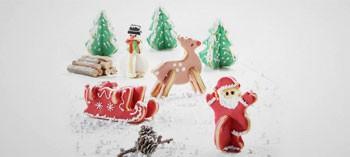 Découpoirs inox 3D Noël (x5)