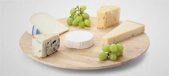 Plateau fromage tournant en bois