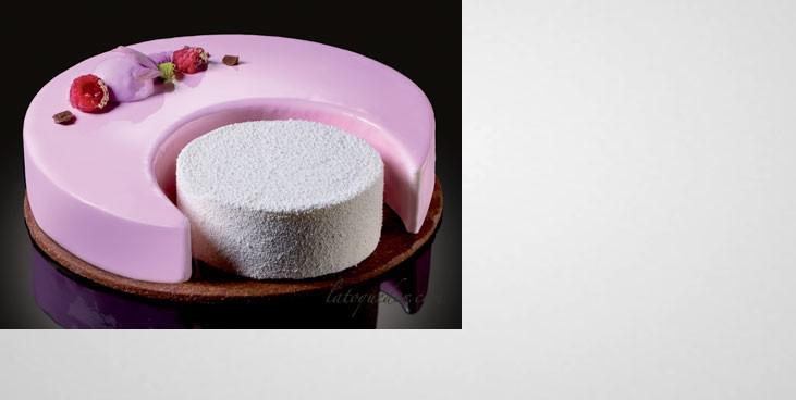 Kit 5 cercles à mousse inox forme lune - Martellato