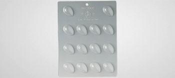 Plaque moule à chocolat mini oeufs craquelés 3,9 x 2,5 mm