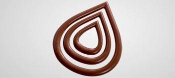 Plaque pour décor chocolat forme goutte d'eau