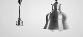 Lampe chauffante extensible finition mat
