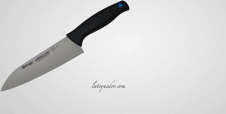 Couteau de cuisine lame titane de 18 cm