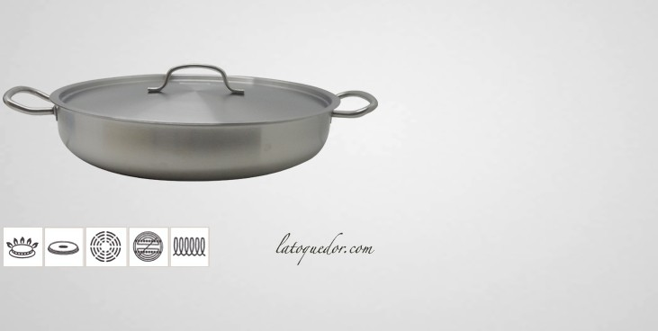 plat paella inox avec couvercle plat paella. Black Bedroom Furniture Sets. Home Design Ideas
