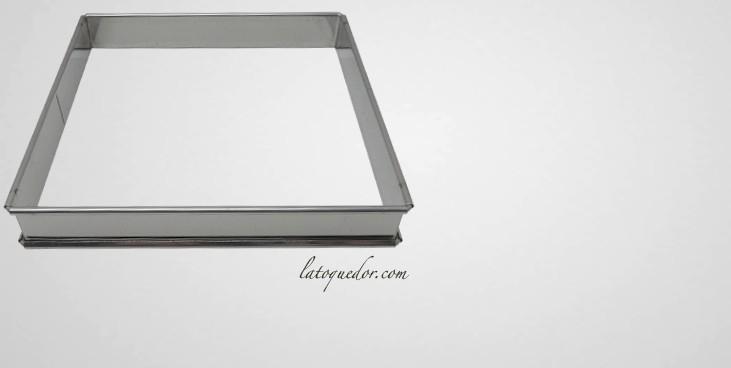 Cadre à tarte carré inox H27