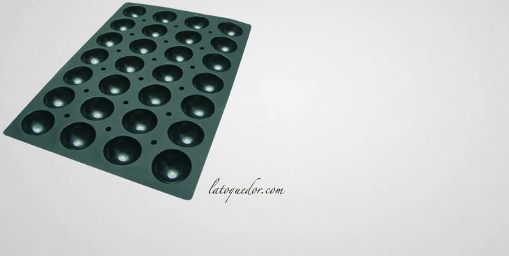 moule silicone professionnel demi sph re 28 empreintes. Black Bedroom Furniture Sets. Home Design Ideas