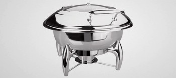 Chafing dish professionnel Luxe rond