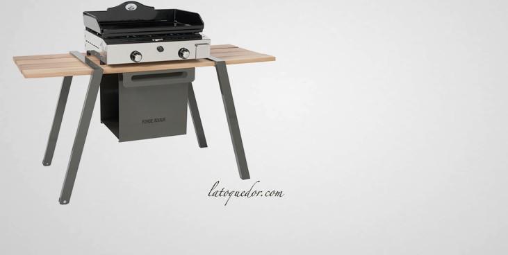 table roulante pour plancha meuble pour plancha exterieur cuisine extarieure cuisine extacrieur. Black Bedroom Furniture Sets. Home Design Ideas
