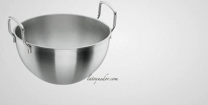 cul de poule inox avec poign e bassine et cul de poule batterie de cuisine la toque d 39 or. Black Bedroom Furniture Sets. Home Design Ideas
