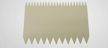 Peigne décor pâtisserie rectangle