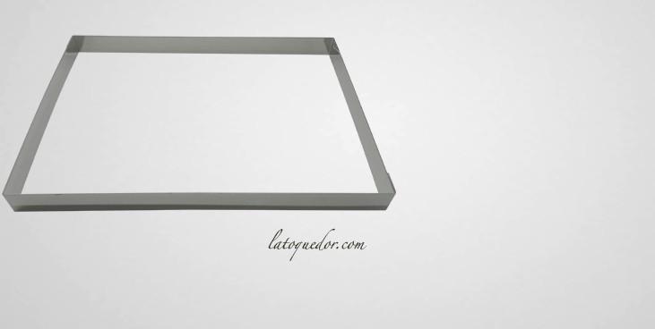 Cadre Inox Pour Plaque Vitroceramique : cadre p tisserie inox rectangle h3 cm cadre ~ Premium-room.com Idées de Décoration