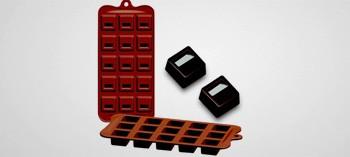 Moule à chocolat silicone carré cubo