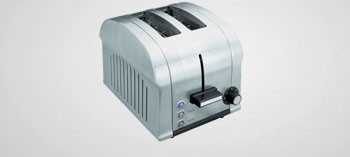 Grille pain inox Luxe 2 tranches