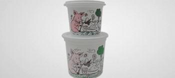 Pot à rillettes blanc avec couvercle (x10)