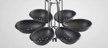 Pocheuse à œufs anti-adhésive en manège de 6