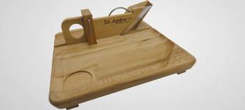 Guillotine à saucisson avec plateau bois