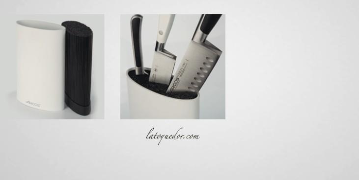 bloc couteaux vide arcos ovale blanc barre aimant e et. Black Bedroom Furniture Sets. Home Design Ideas