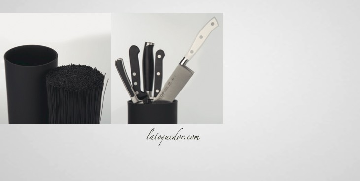 bloc couteaux vide arcos rond noir barre aimant e et. Black Bedroom Furniture Sets. Home Design Ideas