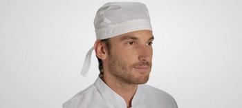 Toque pirate blanche type bandana