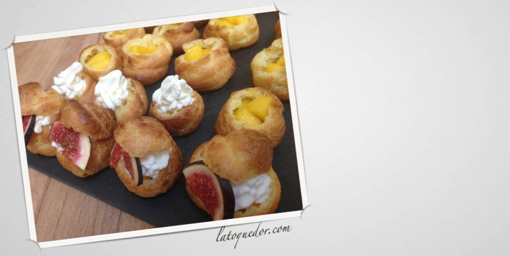 Choux à la chantilly mangue et figue