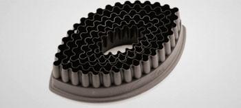 Découpoirs ovales cannelés PA+ (x6)