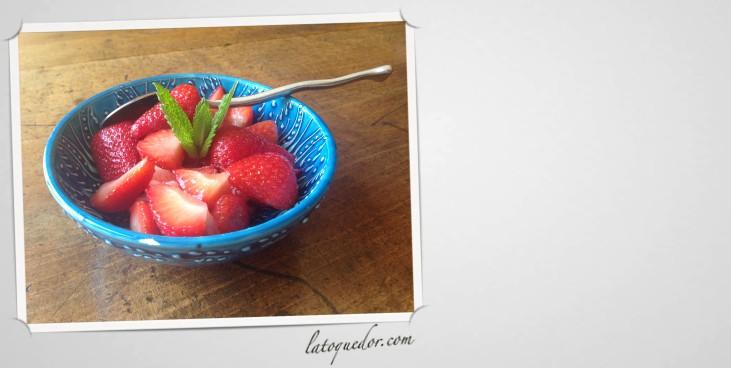 Poêlee de fraises à l'huile d'olive