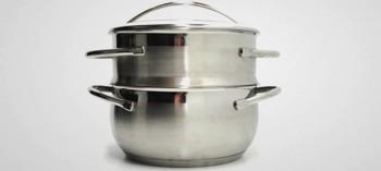 Cuit vapeur inox batterie de cuisine la toque d 39 or - Panier cuit vapeur inox ...