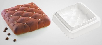 Moule silicone carré effet matelassé Silikomart