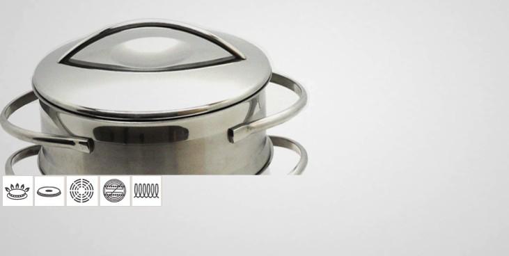 cuit vapeur inox belly cuit vapeur inox batterie de cuisine la toque d 39 or. Black Bedroom Furniture Sets. Home Design Ideas