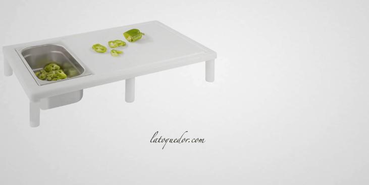 plan de d coupe avec bac r cup rateur planche d couper. Black Bedroom Furniture Sets. Home Design Ideas